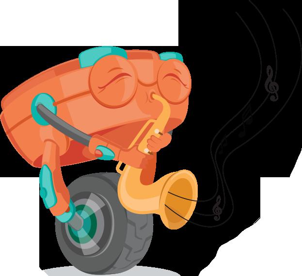 orange wheels vector design